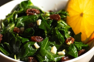 VSK Citrus Collards with Raisins